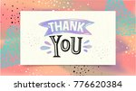 thank you. greeting card... | Shutterstock .eps vector #776620384