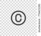 copyright vector icon | Shutterstock .eps vector #776621281