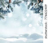 christmas winter background... | Shutterstock . vector #776622409