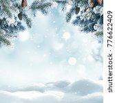 christmas winter background... | Shutterstock . vector #776622409
