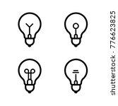 lightbulbs icon set | Shutterstock .eps vector #776623825
