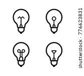 lightbulbs icon set | Shutterstock .eps vector #776623831