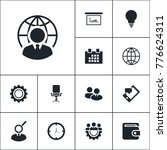 communication icon business set ... | Shutterstock .eps vector #776624311