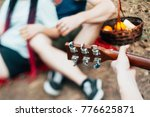 friends picnic guitar music... | Shutterstock . vector #776625871
