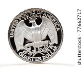 quarter dollar coin over white... | Shutterstock . vector #77662717