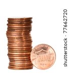 Stack Of One Cent Coins