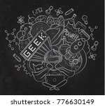 vector cartoon doodle... | Shutterstock .eps vector #776630149