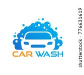 car wash logo template designs | Shutterstock .eps vector #776631619