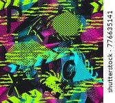 abstract seamless neon pattern...   Shutterstock .eps vector #776635141