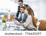 professional business team is...   Shutterstock . vector #776635297