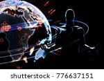 cyber communication and... | Shutterstock . vector #776637151