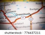 Greenbush. Canada on a map.