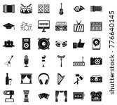 song icons set. simple style of ... | Shutterstock .eps vector #776640145