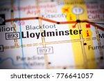 Lloydminster. Canada on a map.