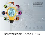 idea concept for business... | Shutterstock .eps vector #776641189