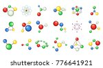 molecule icon set. cartoon set... | Shutterstock .eps vector #776641921