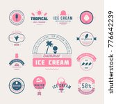 set of ice cream shop labels ... | Shutterstock .eps vector #776642239