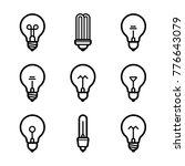 lightbulbs icon set | Shutterstock .eps vector #776643079