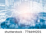 stock market or forex trading... | Shutterstock . vector #776644201