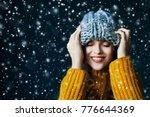 close up portrait of beautiful... | Shutterstock . vector #776644369