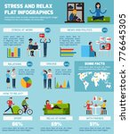 stress and relax infographic... | Shutterstock . vector #776645305