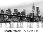 manhattan skyline at sunrise ... | Shutterstock . vector #776645641