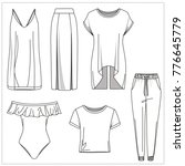 Small photo of Womenswear Clothing CAD Drawings