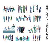flat meeting conference groups... | Shutterstock . vector #776646331