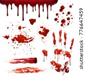 blood spatters realistic... | Shutterstock . vector #776647459