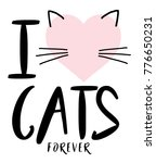 cute cat graphic for t shirt | Shutterstock . vector #776650231