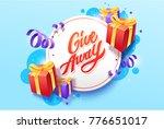 giveaway vector lettering...   Shutterstock .eps vector #776651017