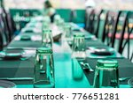 served tables at cafe | Shutterstock . vector #776651281