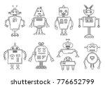 vector illustration of a robot. ... | Shutterstock .eps vector #776652799