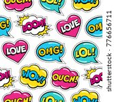 seamless colorful pattern with...   Shutterstock .eps vector #776656711