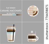 flat design coffee caramel... | Shutterstock .eps vector #776658871