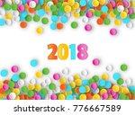 colored carnaval confetti...   Shutterstock .eps vector #776667589