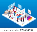 data exchange and training | Shutterstock .eps vector #776668054