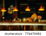 top of table with blur light... | Shutterstock . vector #776670481