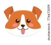 cute dog face. flat style... | Shutterstock .eps vector #776672059