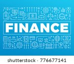 finance background with thin... | Shutterstock .eps vector #776677141