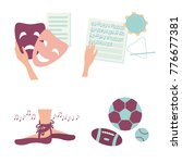 hobby activities. icons for... | Shutterstock .eps vector #776677381
