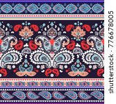 indian rug paisley ornament... | Shutterstock .eps vector #776678005