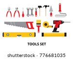 set isolated icons set building ... | Shutterstock .eps vector #776681035