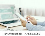 tax concept  accountants are... | Shutterstock . vector #776682157