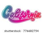 california. vector hanwritten...