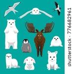 winter coat animals set cartoon ... | Shutterstock .eps vector #776682961