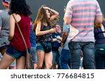 madrid   jun 22  people in a... | Shutterstock . vector #776684815