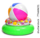 Floating Water Toys Isolated O...