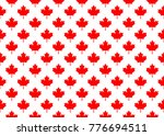 red maple canada seamless... | Shutterstock .eps vector #776694511