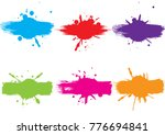 abstract vector splatter label...